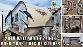 2019 FOREST RIVER WILDWOOD 27DBK Bunk Model Outside Kitchen Travel Trailer RV Camper Colorado Dealer