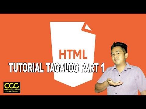 HTML TUTORIAL PART 1 tagalog thumbnail