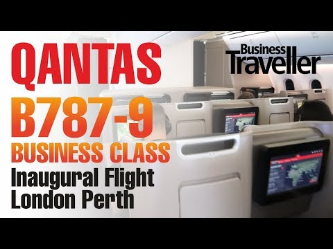 Qantas London to Perth, Boeing Dreamliner 787-9 Business Class
