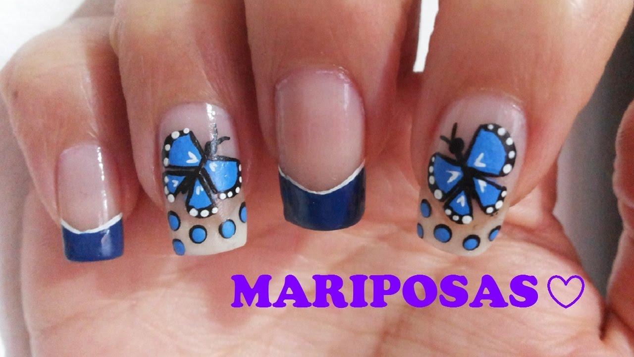 Decoración De Uñas Con Mariposa Facil Y Hermosa Butterflies Nail