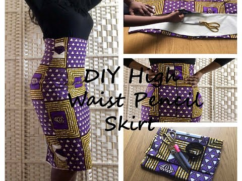 ✂DIY High Waist Pencil Skirt band less  with Princesses Pattern