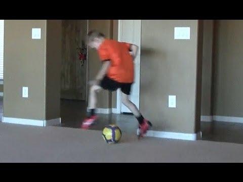 6-7 yr old football/soccer kid with skills of Messi/Ronaldo/Neymar training to be next Iniesta