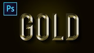 Gold Text Effect: Photoshop Tutorial