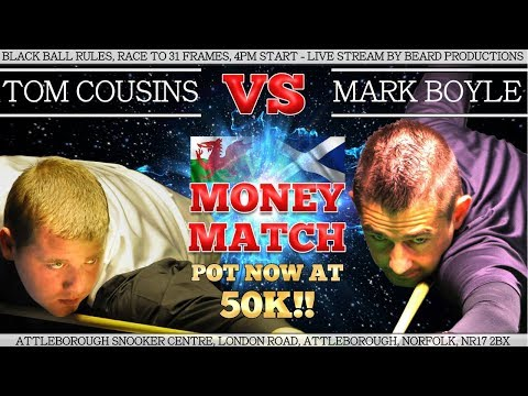 Tom Cousins vs Mark Boyle 52K Money Match!