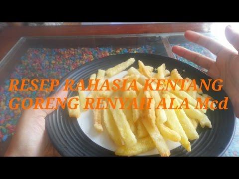 Resep rahasia kentang goreng renyah ala Mcd #kentanggorengKFC #FROZENFOOD.