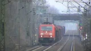 BR185 bei Bonn Villich Müldorf mit gemischtem Güterzug nach Koblenz