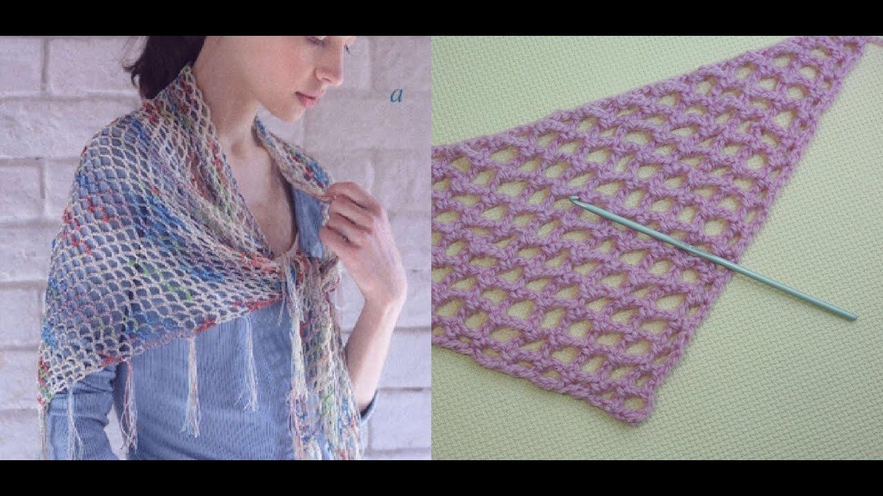 самая простая шаль крючком видео урок 47 The Easy Shawl Crochet