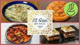 Ramazan 13. Gün İftar Menüsü: Ayran Aşı Çorbası - Ramazan Pidesi - Etli Patates - Balkabaklı Pasta