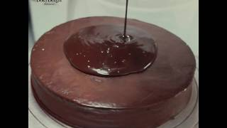 Making of a delicious chocolate cake