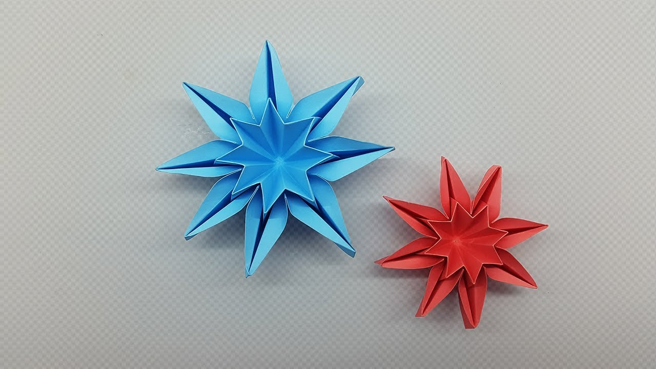 How To Make Origami Star Flower Diy Paper Star Flower Craft Youtube