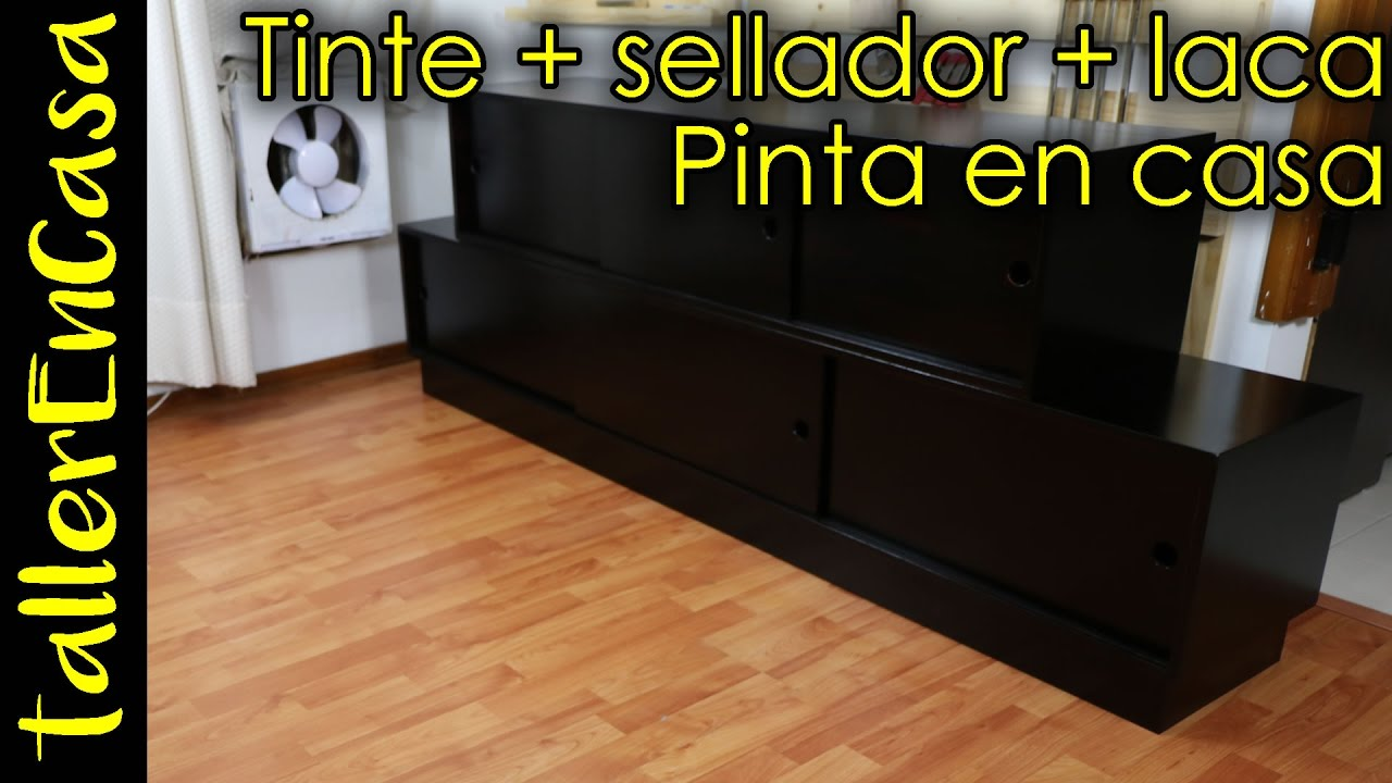 Como pintar mueble de madera en casa tintar sellar y for Pintura color wengue para muebles