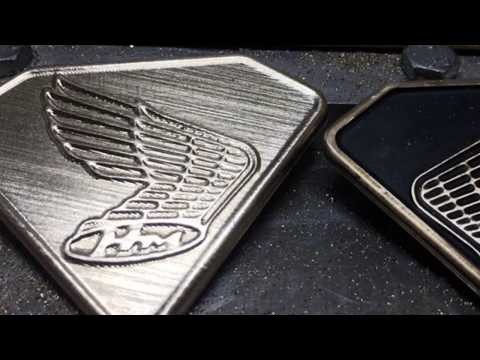 DIY Brass Cafe Racer badge - Home CNC