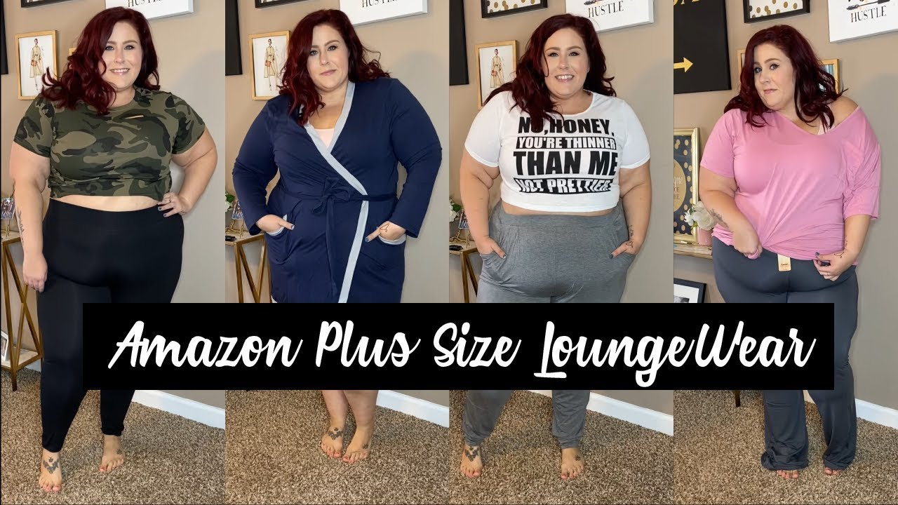 Amazon Plus Size Lounge Wear Try On Haul - Comfy Clothes for Fall