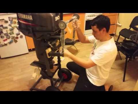 Тележка для лодочного мотора тестирование