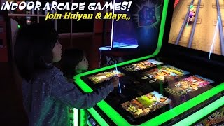 Indoor Amusement Arcade Games Playtime Fun with Hulyan & Maya Part 2