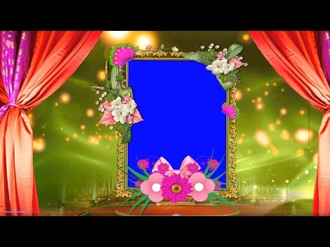HD Free Wedding Frame Animated Blue Screen Video Downloads