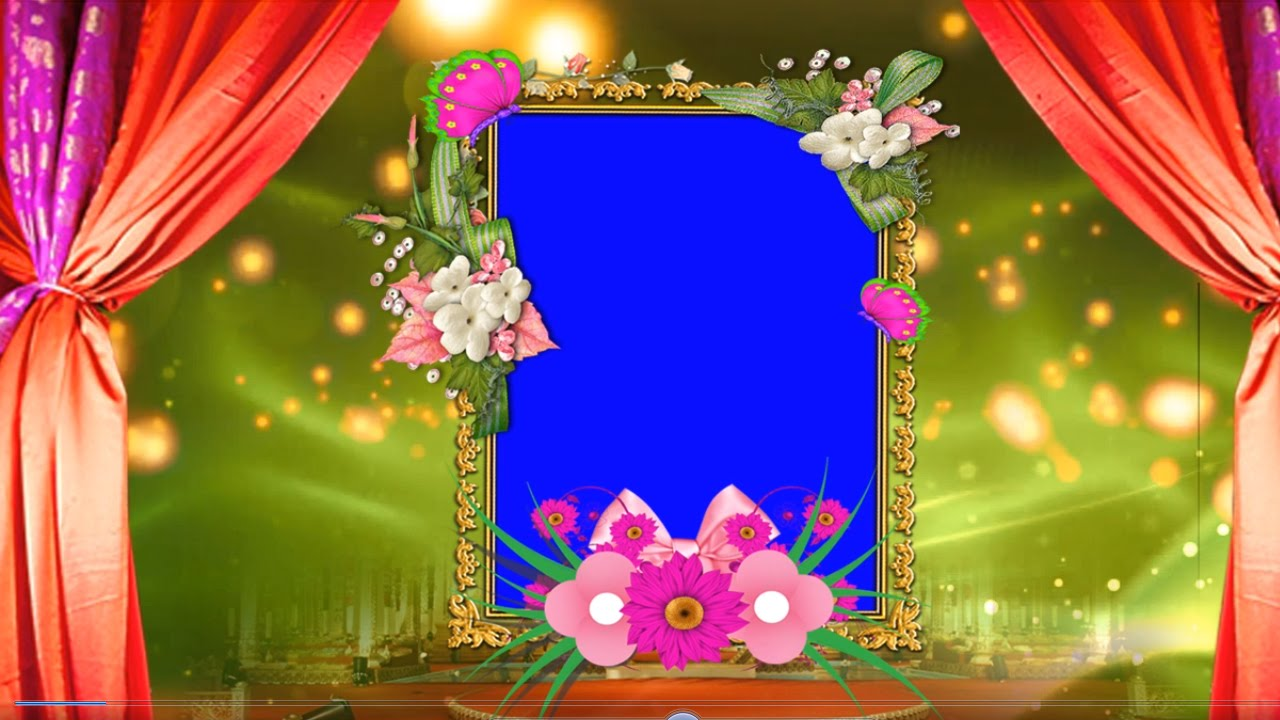 HD Free Wedding Frame Animated Blue Screen Video Downloads - YouTube
