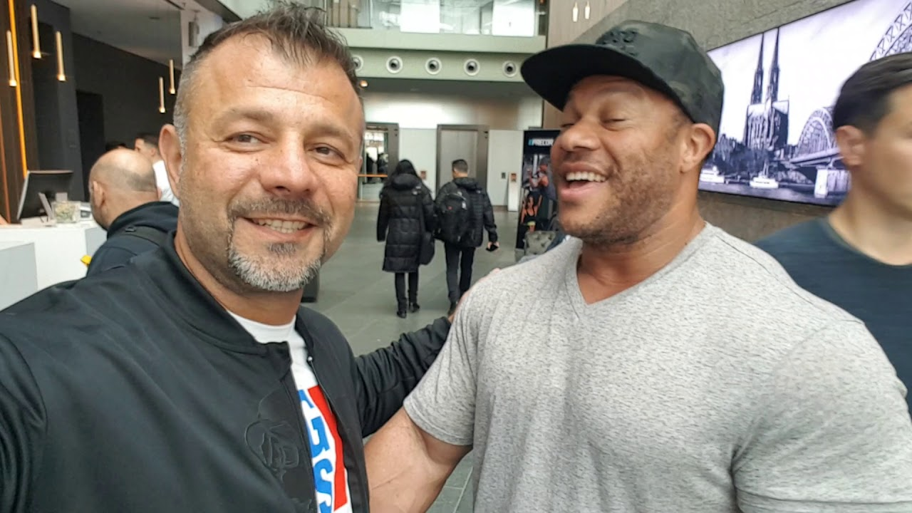 Phil Heath arrives to Fibo 2019 Cologne Germany