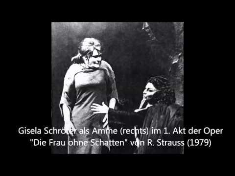 Gisela Schröter als Amme im 1. Akt