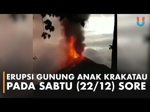Erupsi Gunung Anak Krakatau pada Sabtu (22/12) Sore
