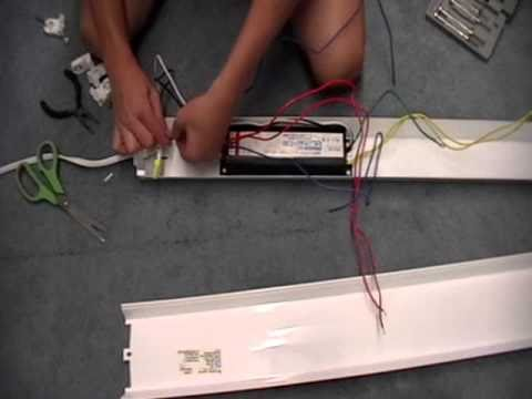 how to replace a fluorescent ballast youtube rh youtube com 4 Light Ballast Wiring Diagram Replacement Ballast Wiring Diagram