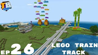 Lego Train Track And Cheaty XP - Truly Bedrock Season 2 Minecraft SMP Episode 26