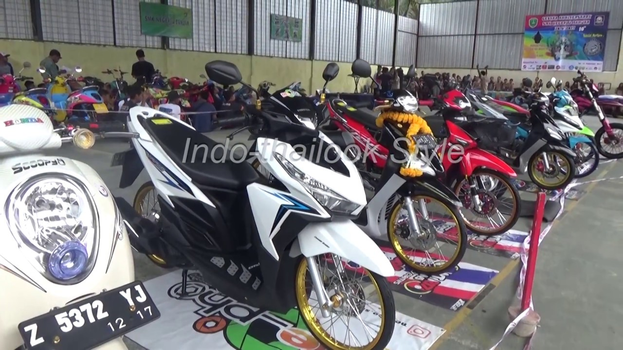 Kontes Motor Honda Vario Modifikasi Thailook Style YouTube