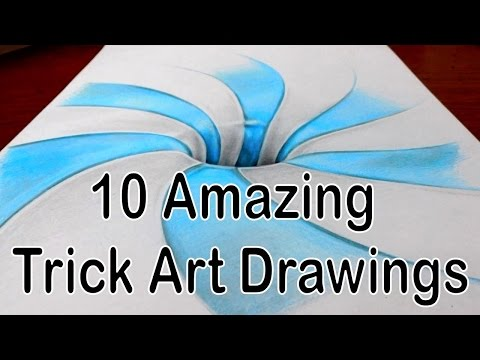 Thumbnail: 10 Amazing Trick Art Drawings - Compilation Video