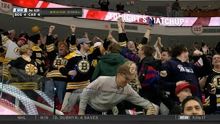 Bruins down 4-1 in the 3rd, win 6-4 on Pastrnak's hat trick 3/13/18