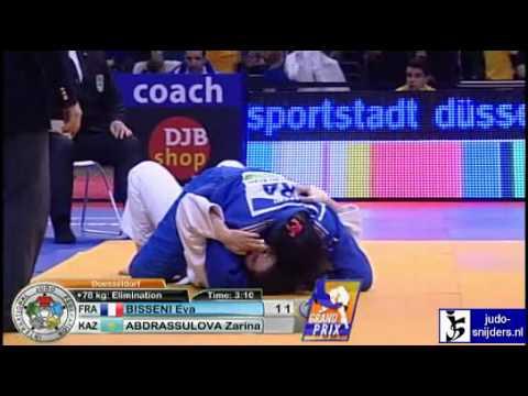 Judo 2010 Grand Prix Dusseldorf: Eva Bisseni (FRA) - Zarina Abdrassulova (KAZ) [+78kg]