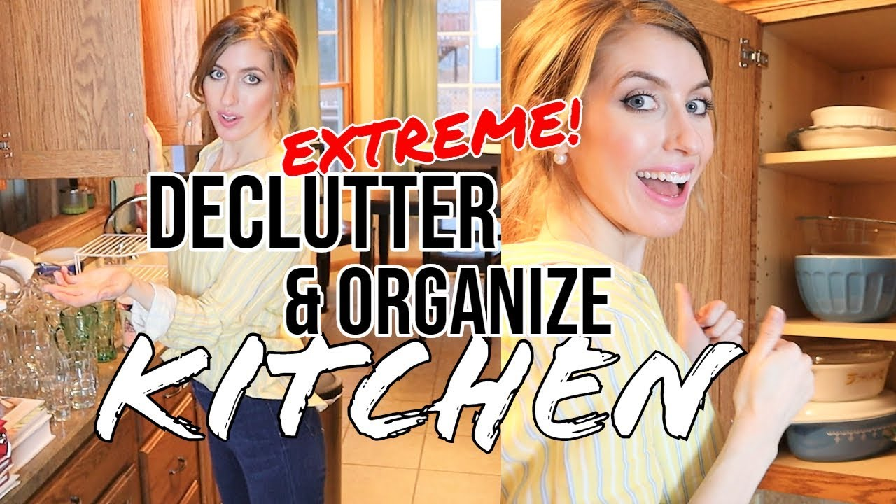 Extreme Kitchen Declutter Organization And Clean With Me Ultimate Clean With Me 2019 Christy Lyn