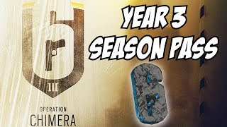 Rainbow Six Siege Year 3 Season Pass Charm Meteorite Six & exclusive prediction year 3 operators