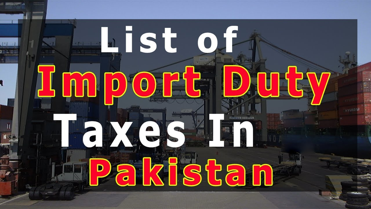 taxes in pakistan In this edition of pakistan customs tariff an attempt has been made to provide all information about pct headings and their applicable rates of all duties and taxes levied on imports including customs duties, sales tax, advance income tax, federal excise duty, anti dumping duties etc in a user.
