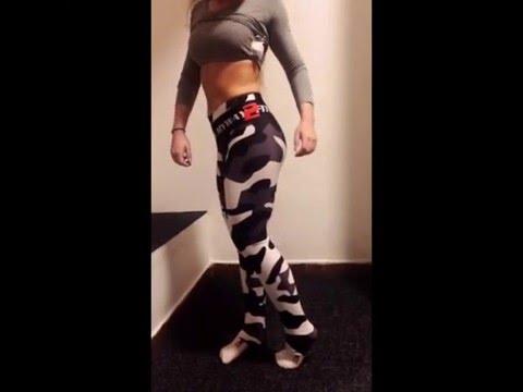 Kompressní maskáčové legíny MyWay2fitness - YouTube 9edc62c06e