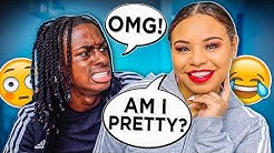 I DID MY MAKEUP HORRIBLY TO SEE HOW MY BOYFRIEND WOULD REACT!!!