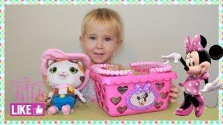 Минни Маус корзина  для покупок фруктов и разных других продуктов  | Minnie Mouse shopping basket
