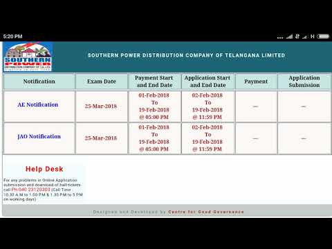 AE and JAO posts Notification in Southern Power Distribution company Limited Telangana