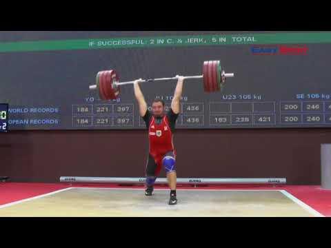 PHILIPP FORSTER - Stoßen 191, 200x, 200x - 2017 EUROPEAN CHAMPIONSHIPS JUNIOR & U23