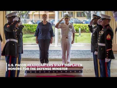 Australian Minister of Defense Visit- PACOM