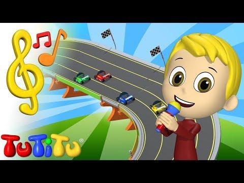 Song & Karaoke | Race Cars | TuTiTu Toys and Songs for Children
