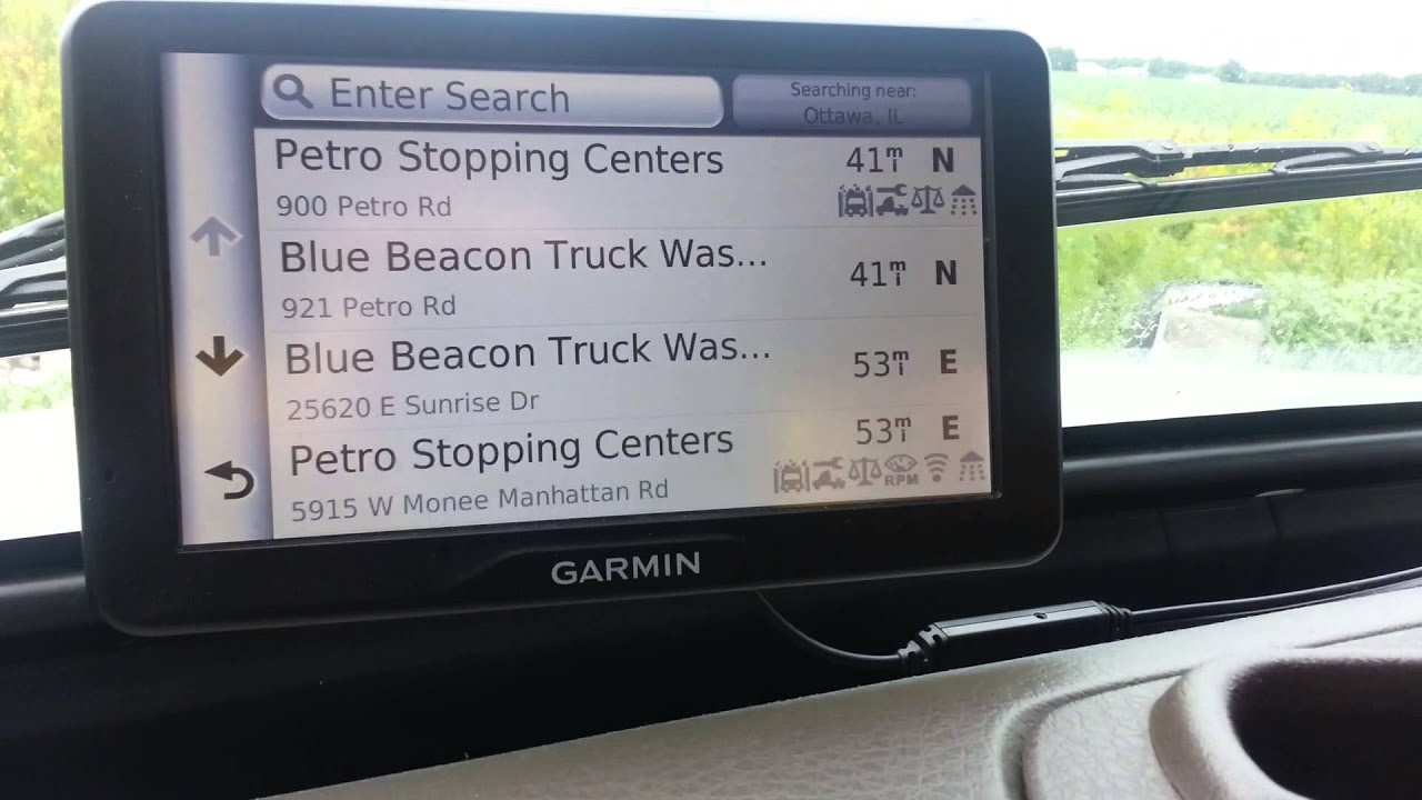 Instructions for garmin sat nav
