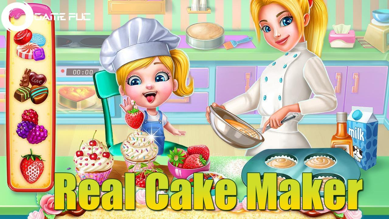 Real Cake Maker 3D - Bake Design Decorate - Songs And Kids Games