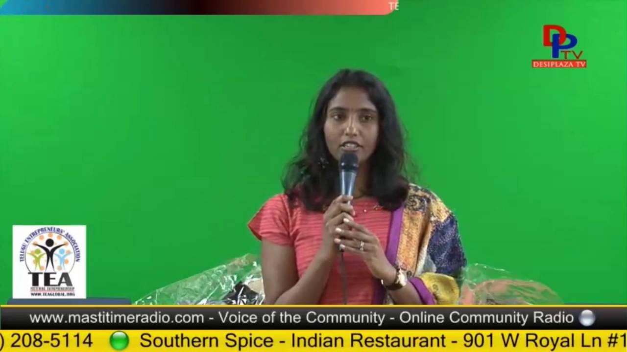 Sandhya Padala Speaks about the upcoming TEA Event.