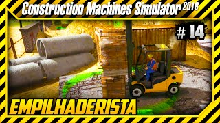 CONSTRUCTION MACHINES SIMULATOR 2016 - PROFISSIONAL NA EMPILHADEIRA