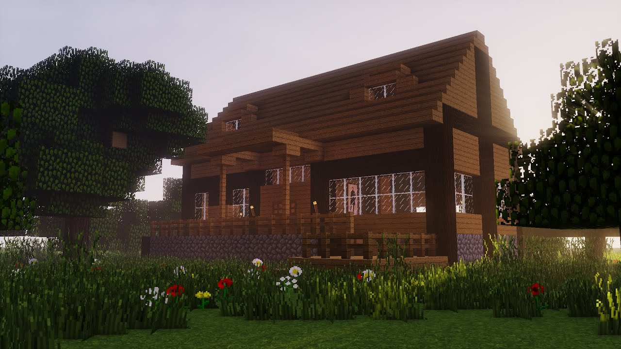 Minecraft Build How To A Wooden Starter House 2