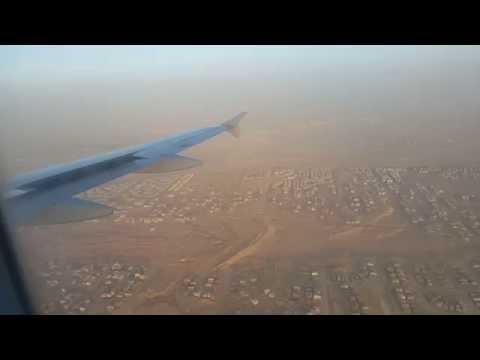 هبوط في مطار القاهره قادمه من مطار أبها Landing at Cairo Airport coming from Abha Airport
