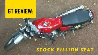 Review of stock pillion seat - Continental GT