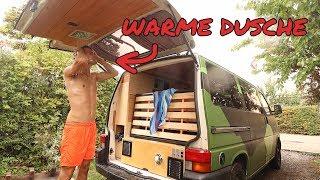 DUSCHE IN DER HECKKLAPPE VOM VW-BUS! | Die Kühlwasser-Dusche.