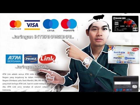Mastercard, Visa,Link, Cirrus, Maestro, ATM Bersama, Prima. Jaringan Bank BRI