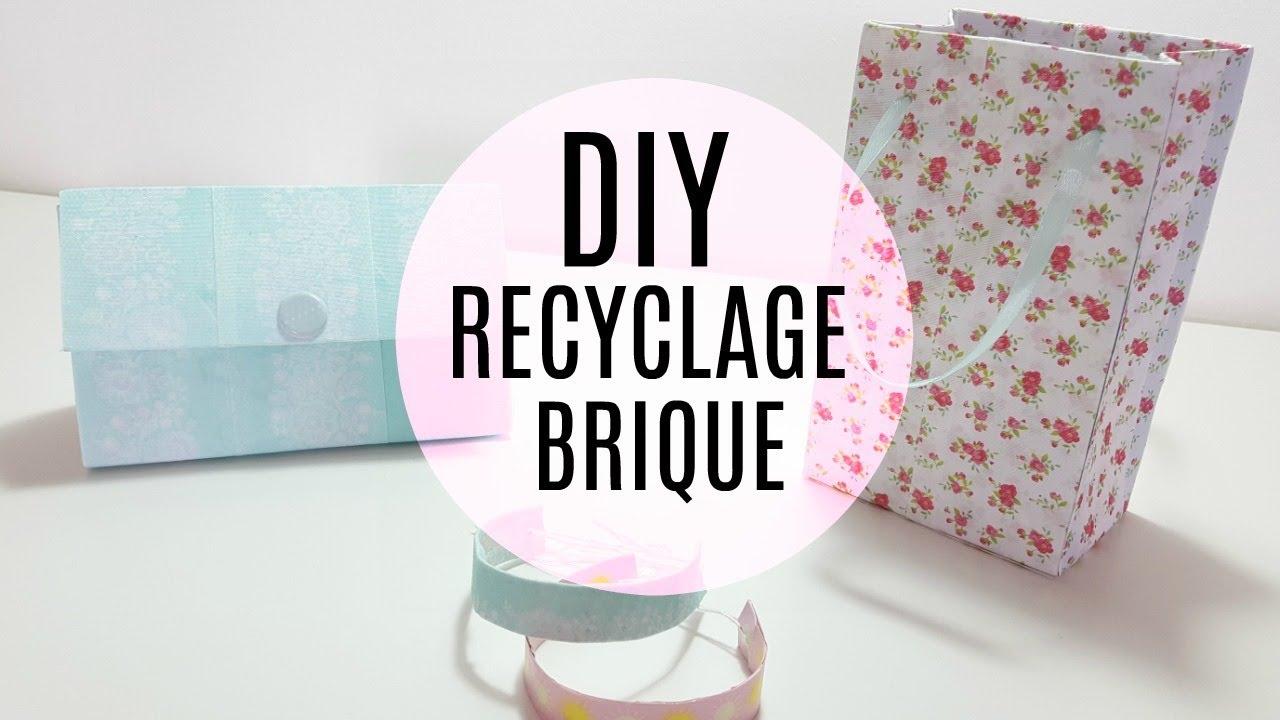 Bien-aimé DIY PINTEREST RECYCLAGE BRIQUE DE LAIT 3 IDÉES / BRACELET PAQUET  PT42